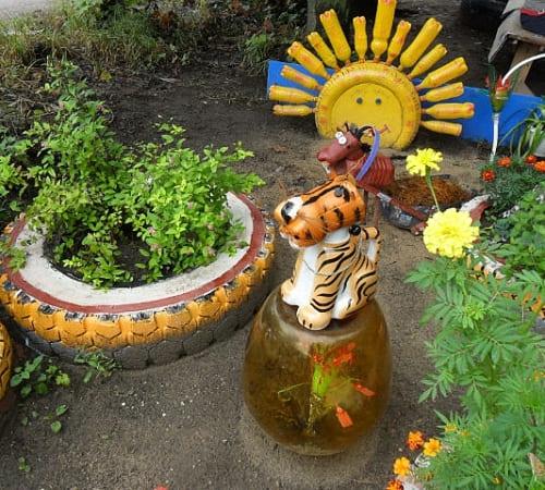 Тигр своими руками для сада