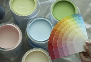 Покраска стен колером — этапы и итоги работ