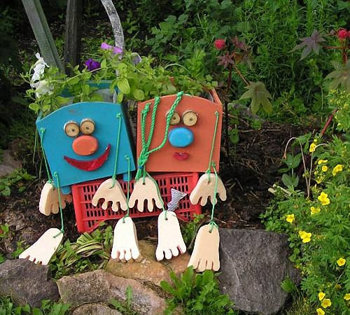 Поделки для сада из канистр своими руками для сада
