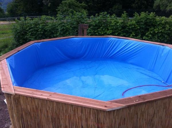 Как из подручных средств сделать бассейн своими руками