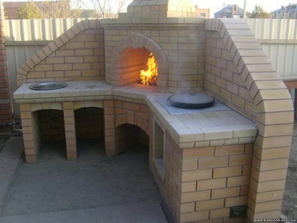 Фото печь барбекю в беседку своими руками