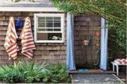 Как построить дачный душ с подогревом и раздевалкой на даче?