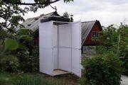 Как построить дачный душ из поликарбоната с раздевалкой и подогревом?