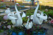 Как сделать лебедя из автомобильной покрышки для украшения сада