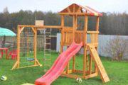 Уличные детские комплексы — пекрасное место для игры на даче