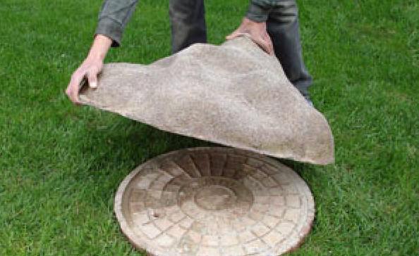 Искусственный камень крышка своими руками