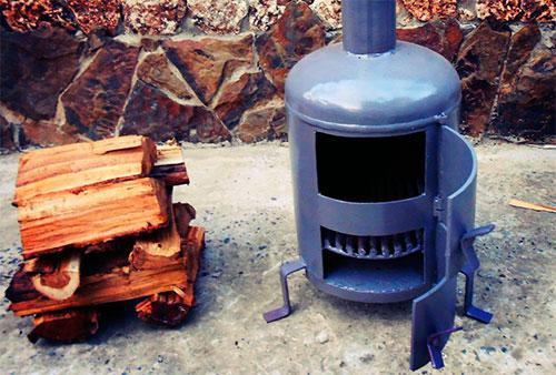 Своими руками печь на дровах в гараж