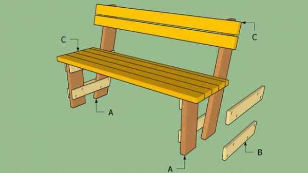 Как сделать скамейку со спинкой своими руками чертежи