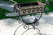 Варианты мангалов с элементами ковки: процесс проектирования