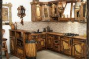 Кухня под старину своими руками