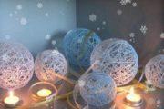 Елочные шары из ниток мастер класс