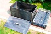 Устройство коптильни горячего и холодного копчения