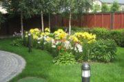 Оформление клумбы возле дома своими руками: идеи и фото