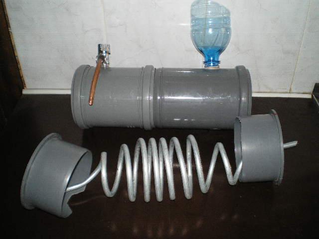 Охладитель из канализационной трубы для самогонного аппарата как делать самогонный аппарат схема
